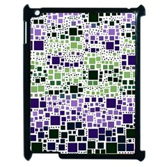 Block On Block, Purple Apple Ipad 2 Case (black) by MoreColorsinLife