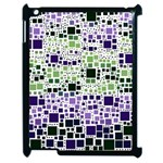 Block On Block, Purple Apple iPad 2 Case (Black) Front
