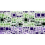 Block On Block, Purple Happy Birthday 3D Greeting Card (8x4) Front