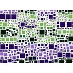 Block On Block, Purple Heart Bottom 3D Greeting Card (7x5) Back