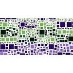 Block On Block, Purple Twin Heart Bottom 3D Greeting Card (8x4) Back