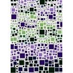 Block On Block, Purple Circle 3D Greeting Card (7x5) Inside