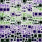 Block On Block, Purple #1 DAD 3D Greeting Card (8x4) Inside