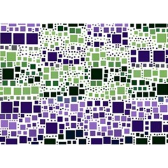 Block On Block, Purple Birthday Cake 3d Greeting Card (7x5)