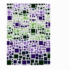 Block On Block, Purple Large Garden Flag (two Sides)