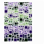 Block On Block, Purple Large Garden Flag (Two Sides) Back