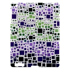 Block On Block, Purple Apple Ipad 3/4 Hardshell Case by MoreColorsinLife