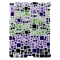 Block On Block, Purple Apple Ipad 3/4 Hardshell Case (compatible With Smart Cover) by MoreColorsinLife