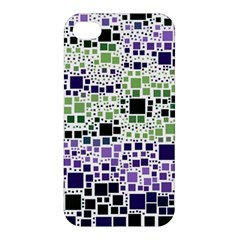 Block On Block, Purple Apple Iphone 4/4s Premium Hardshell Case by MoreColorsinLife