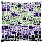 Block On Block, Purple Large Cushion Case (One Side) Front