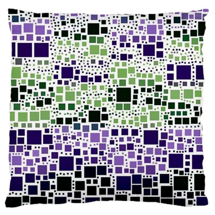 Block On Block, Purple Large Cushion Case (One Side)