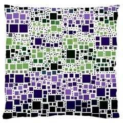 Block On Block, Purple Large Cushion Case (two Sides) by MoreColorsinLife