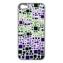 Block On Block, Purple Apple Iphone 5 Case (silver) by MoreColorsinLife
