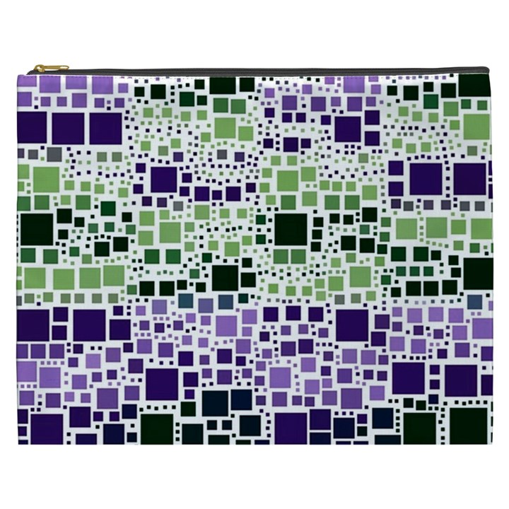 Block On Block, Purple Cosmetic Bag (XXXL)