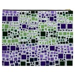 Block On Block, Purple Cosmetic Bag (XXXL)  Back