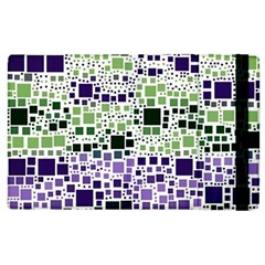 Block On Block, Purple Apple Ipad 3/4 Flip Case by MoreColorsinLife