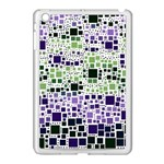Block On Block, Purple Apple iPad Mini Case (White) Front