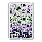 Block On Block, Purple Apple iPad Mini Case (White)