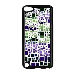 Block On Block, Purple Apple Ipod Touch 5 Case (black) by MoreColorsinLife