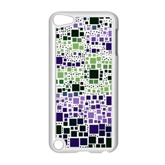 Block On Block, Purple Apple Ipod Touch 5 Case (white) by MoreColorsinLife