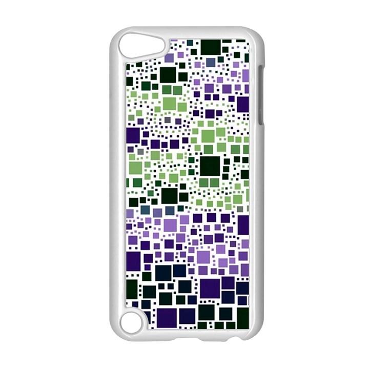 Block On Block, Purple Apple iPod Touch 5 Case (White)