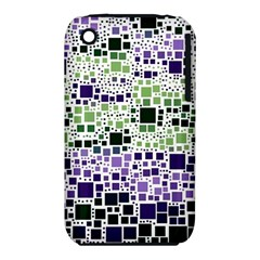 Block On Block, Purple Apple Iphone 3g/3gs Hardshell Case (pc+silicone) by MoreColorsinLife