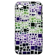 Block On Block, Purple Apple Iphone 4/4s Hardshell Case (pc+silicone) by MoreColorsinLife