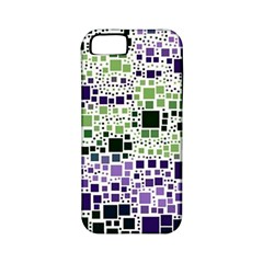 Block On Block, Purple Apple Iphone 5 Classic Hardshell Case (pc+silicone) by MoreColorsinLife