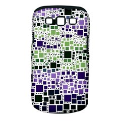 Block On Block, Purple Samsung Galaxy S Iii Classic Hardshell Case (pc+silicone) by MoreColorsinLife