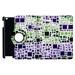 Block On Block, Purple Apple Ipad 3/4 Flip 360 Case by MoreColorsinLife
