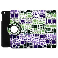 Block On Block, Purple Apple Ipad Mini Flip 360 Case by MoreColorsinLife