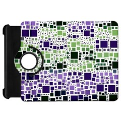Block On Block, Purple Kindle Fire Hd Flip 360 Case by MoreColorsinLife