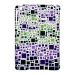 Block On Block, Purple Apple iPad Mini Hardshell Case (Compatible with Smart Cover)