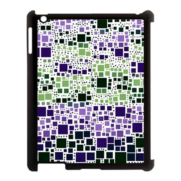 Block On Block, Purple Apple iPad 3/4 Case (Black)