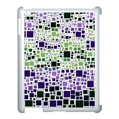Block On Block, Purple Apple Ipad 3/4 Case (white) by MoreColorsinLife