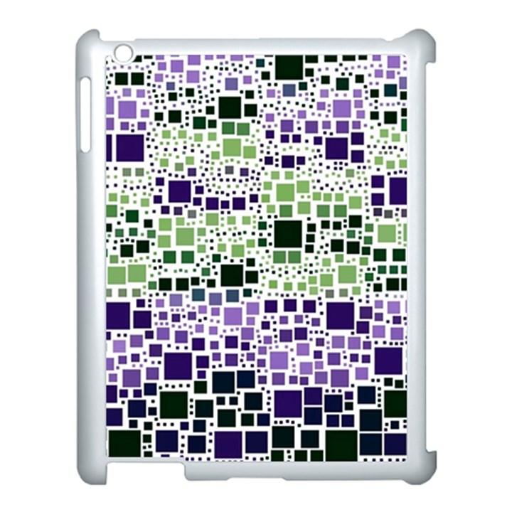 Block On Block, Purple Apple iPad 3/4 Case (White)