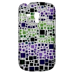 Block On Block, Purple Samsung Galaxy S3 Mini I8190 Hardshell Case by MoreColorsinLife
