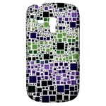 Block On Block, Purple Samsung Galaxy S3 MINI I8190 Hardshell Case