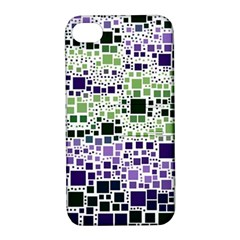 Block On Block, Purple Apple iPhone 4/4S Hardshell Case with Stand