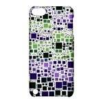 Block On Block, Purple Apple iPod Touch 5 Hardshell Case with Stand