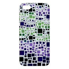 Block On Block, Purple Apple Iphone 5 Premium Hardshell Case by MoreColorsinLife