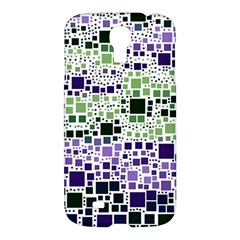 Block On Block, Purple Samsung Galaxy S4 I9500/i9505 Hardshell Case by MoreColorsinLife