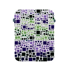 Block On Block, Purple Apple Ipad 2/3/4 Protective Soft Cases by MoreColorsinLife