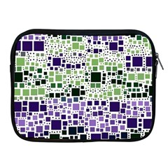 Block On Block, Purple Apple Ipad 2/3/4 Zipper Cases by MoreColorsinLife