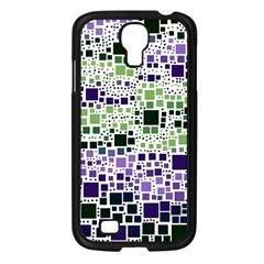 Block On Block, Purple Samsung Galaxy S4 I9500/ I9505 Case (black) by MoreColorsinLife