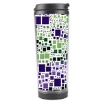 Block On Block, Purple Travel Tumbler Left