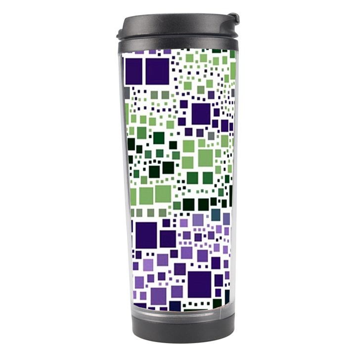 Block On Block, Purple Travel Tumbler