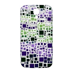 Block On Block, Purple Samsung Galaxy S4 I9500/i9505  Hardshell Back Case by MoreColorsinLife