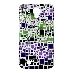 Block On Block, Purple Samsung Galaxy Mega 6 3  I9200 Hardshell Case by MoreColorsinLife