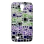 Block On Block, Purple Samsung Galaxy Mega 6.3  I9200 Hardshell Case